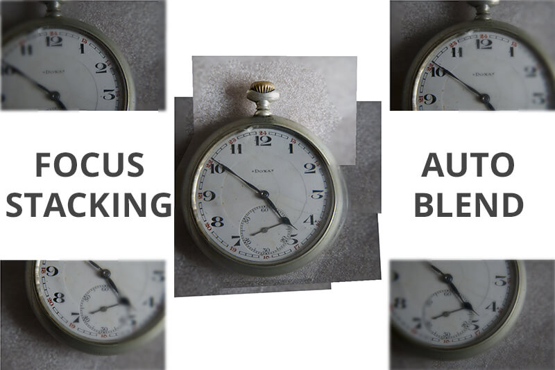 focus stacking auto blending