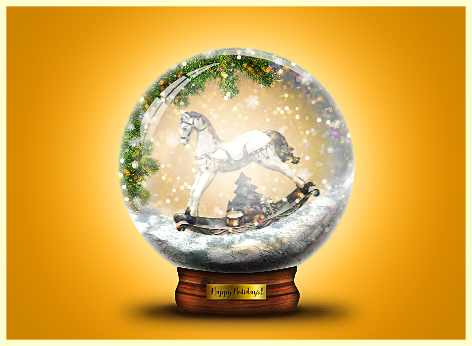 christmas SNOW GLOBE final result