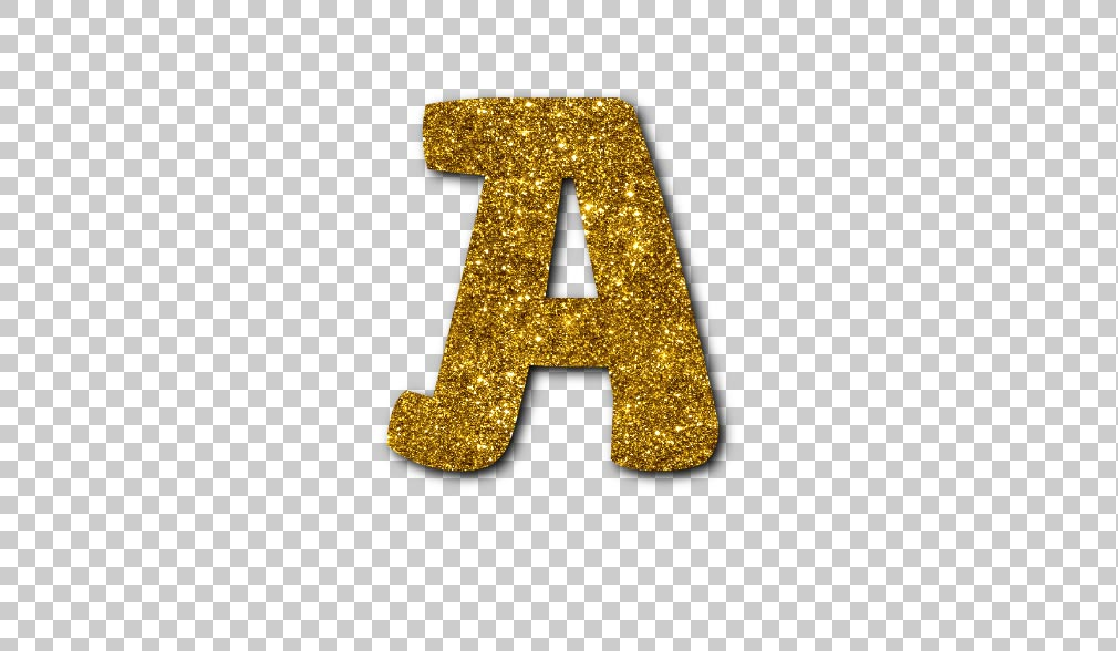 Glitter Letters PNG
