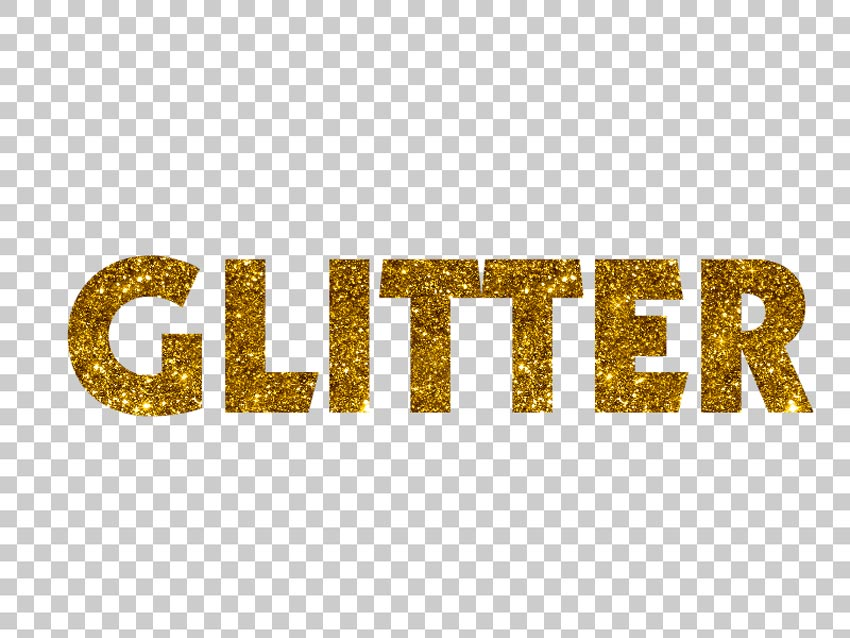 Glitter text Photoshop