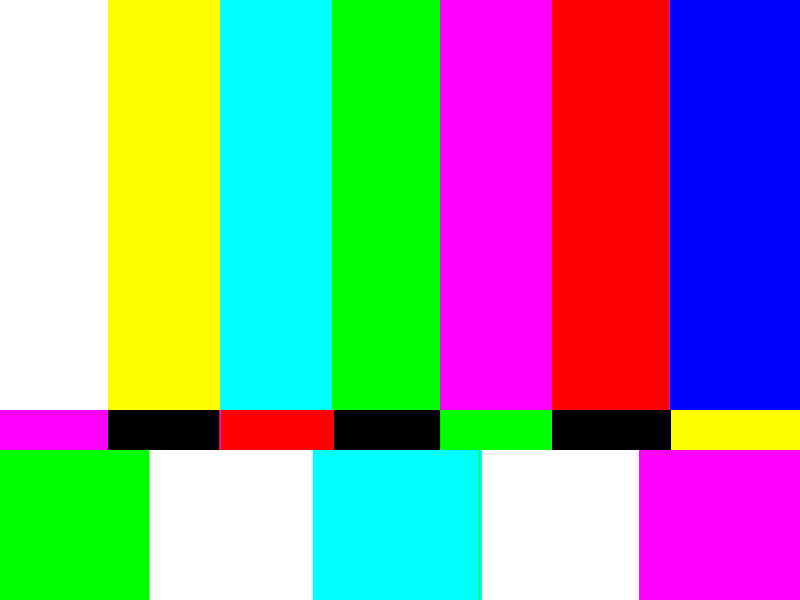 TV SMPTE Color Bars Background Free