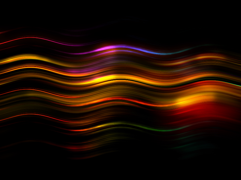 Abstract Light Painting Wave Lines Free Overlay