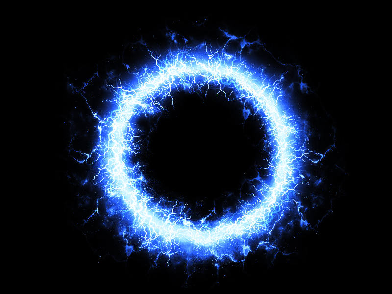 Blue Plasma Energy Ring Background Free