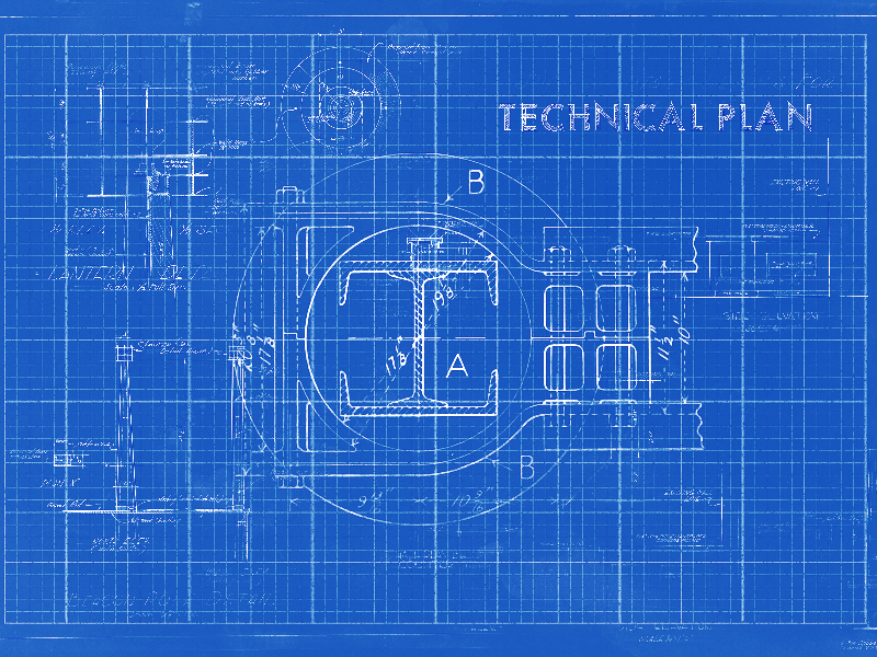 Blueprint Technical Drawing Texture Free Paper