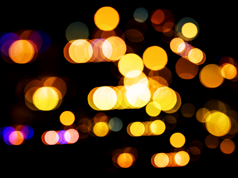 Blurry Night Lights Background