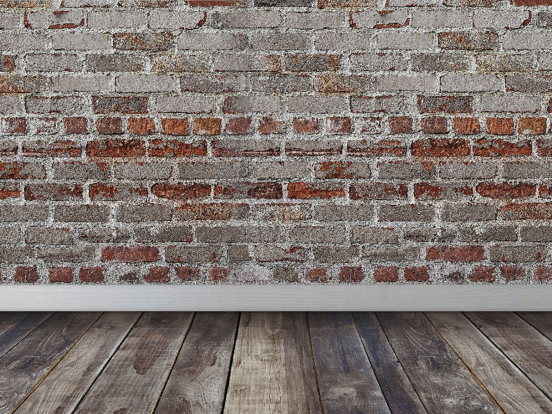 Bricks Wall Wood Floor Room Interior Scene Texture