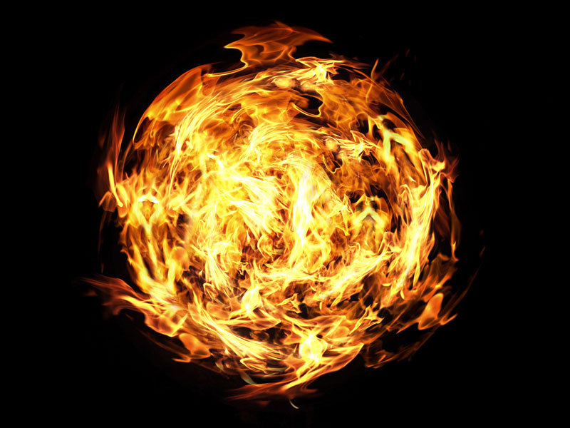 Burning Fire Ball Free Background