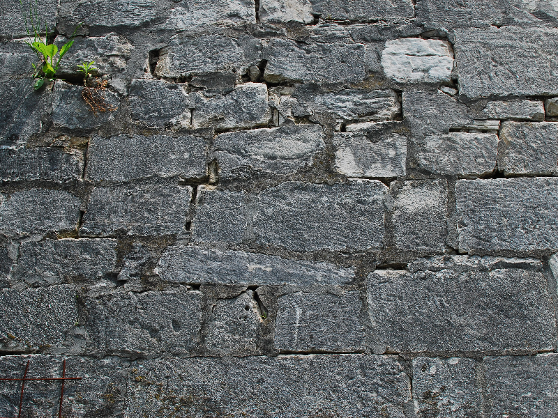 Castle Gray Square Stone Wall