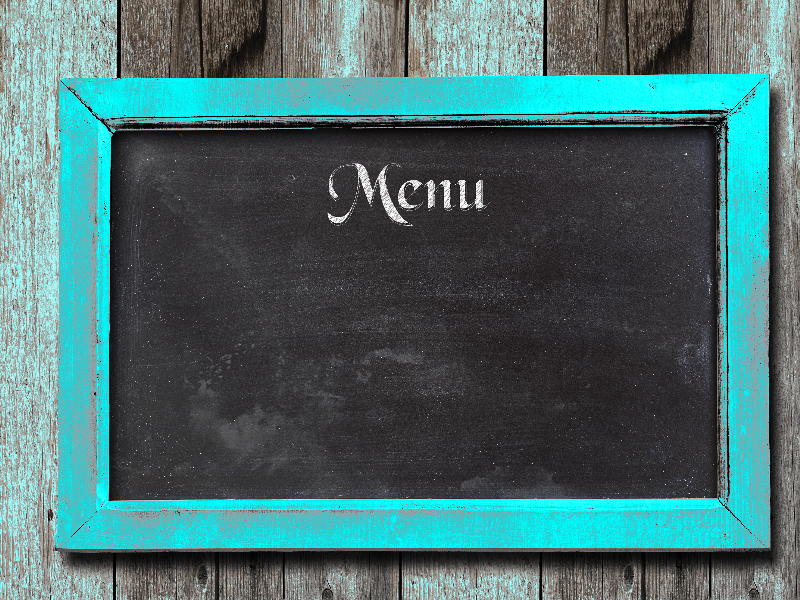 chalkboard menu background for restaurants decor and