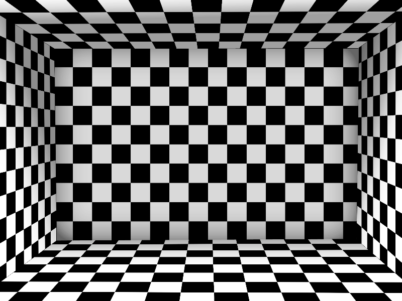 Checkered Pattern Room Background for Photoshop