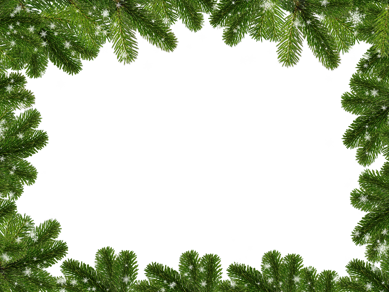 Christmas Background with Fir Twigs and Snowflakes Free Texture