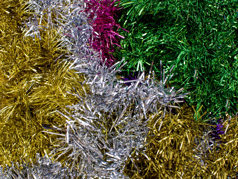 Christmas Tinsel Texture Free