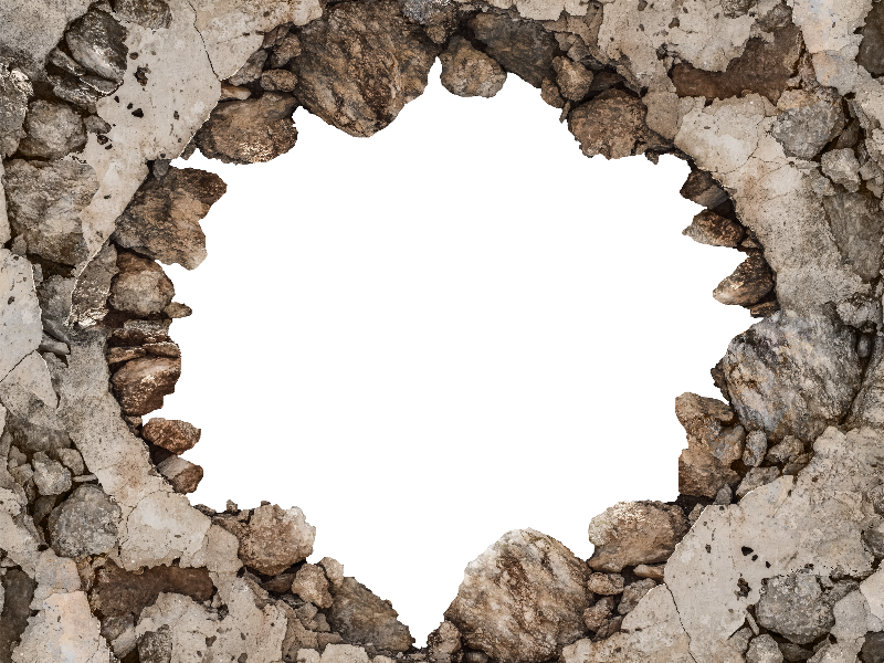 Cracked broken wall png background for photoshop brick for Transparent glass wall