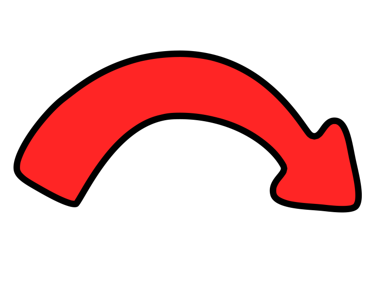 Curved Arrow PNG