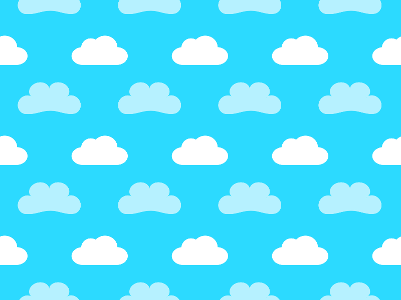 Cute Cartoon Clouds Seamless Pattern