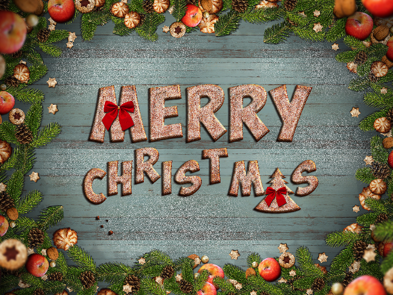 Cute Merry Christmas Cookies Background