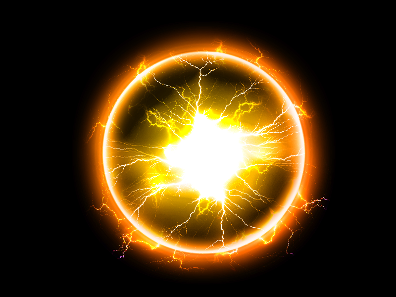 Electricity Energy Circle Plasma Ball Stock Image