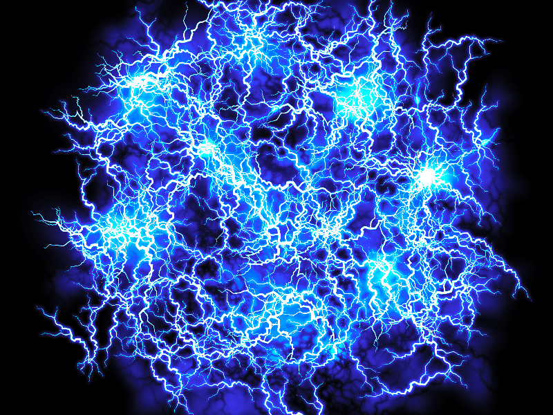 Energy FX Blue Ball Of Lightning Texture Overlay