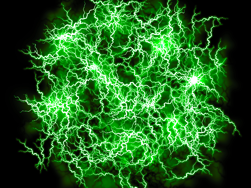 Energy FX Green Ball Of Lightning Texture Overlay