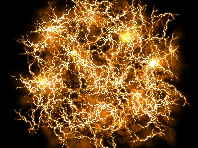 Energy FX Yellow Ball Of Lightning Texture Overlay