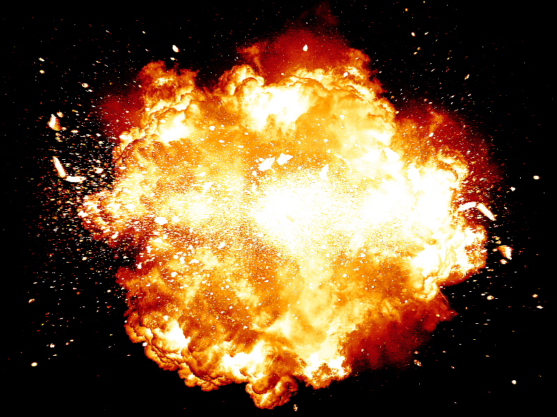Explosion Blast Background For Photoshop Free