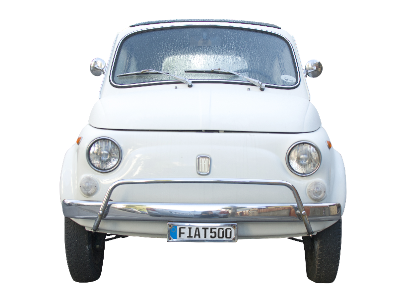 Fiat Old Car Front PNG Image
