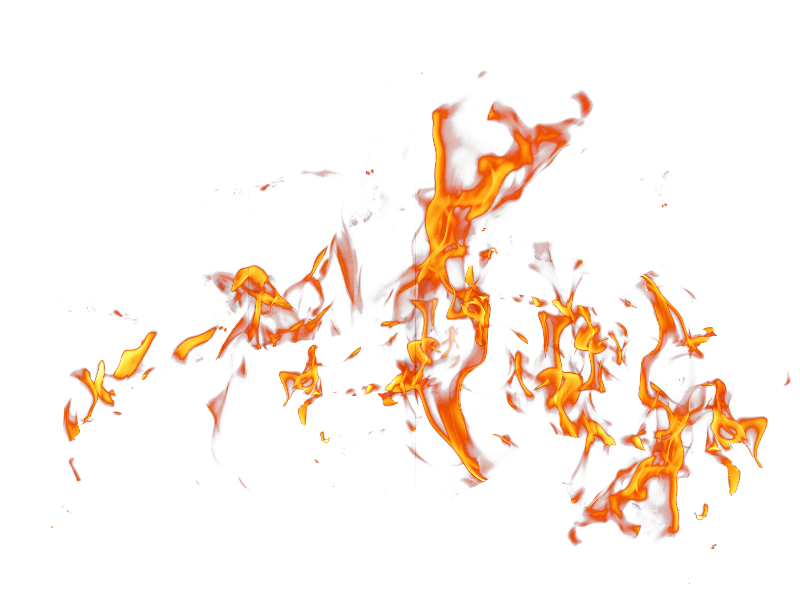 Fire PNG Effects Stock Image