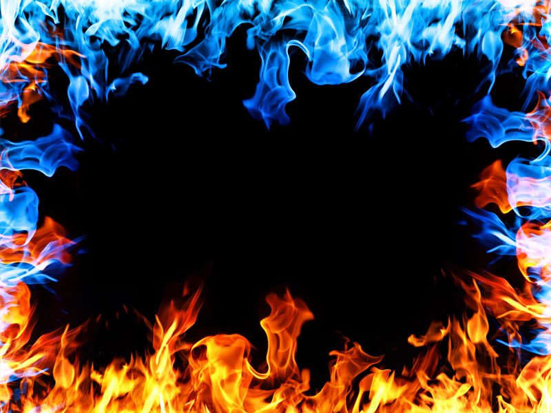 Fire Flames Frame Free Background Fire And Smoke
