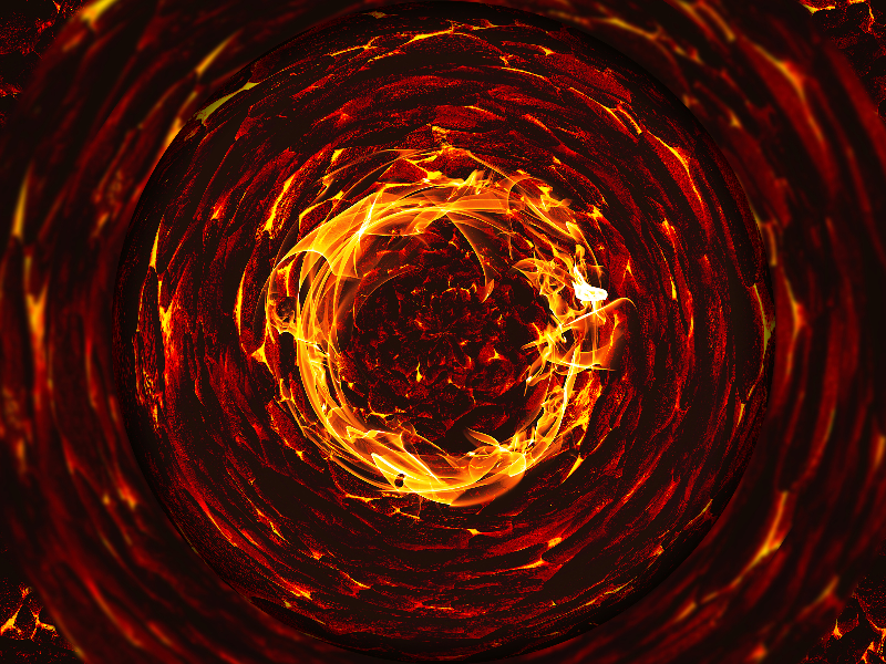 Fire Vortex Horror Background Free