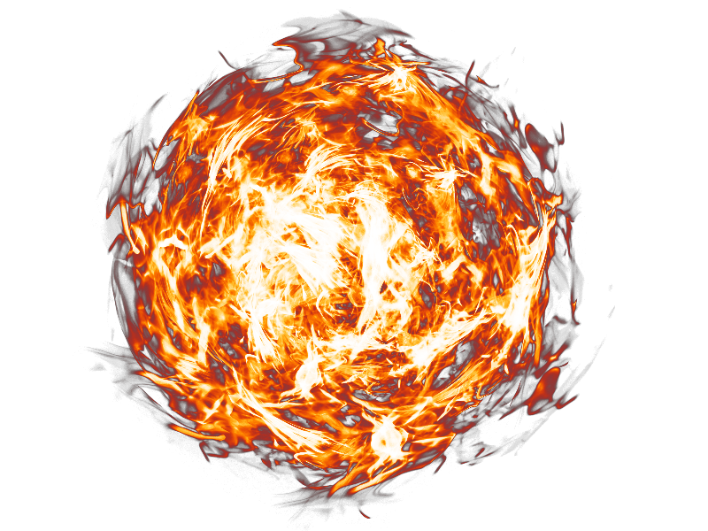 Fireball PNG Transparent Background