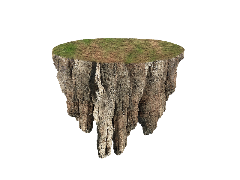 Floating Island PNG Image Free