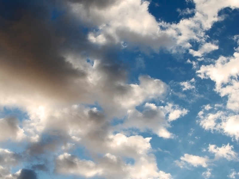 Fluffy Clouds Sky Texture Background