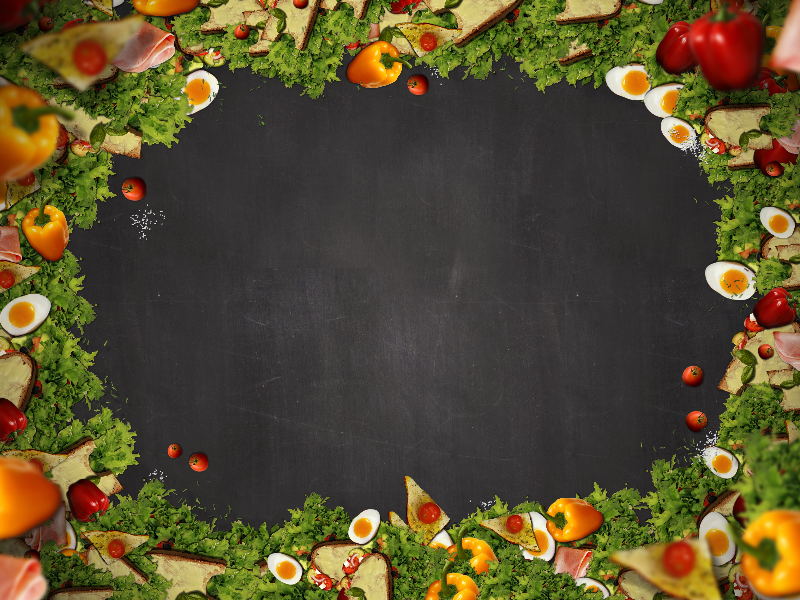 Food Menu Background With Blackboard Texture