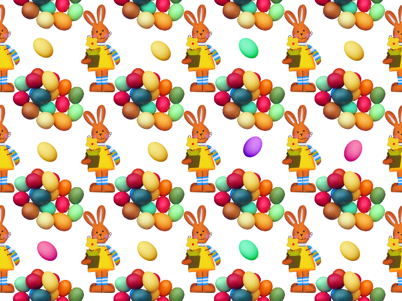 Free Easter Egg Pattern Background