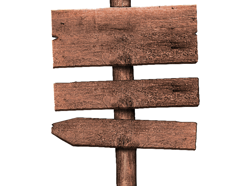 Free Rustic Wood Sign PNG