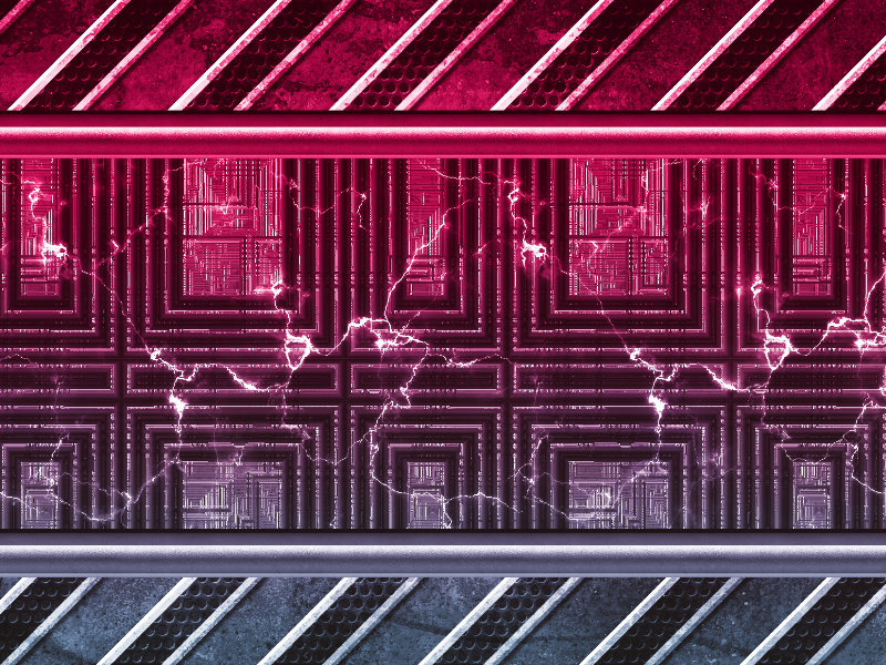 Free Sci Fi Metal Panel with Electric Arc Texture