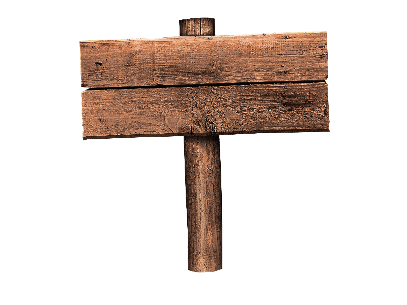 Free Wood Sign PNG