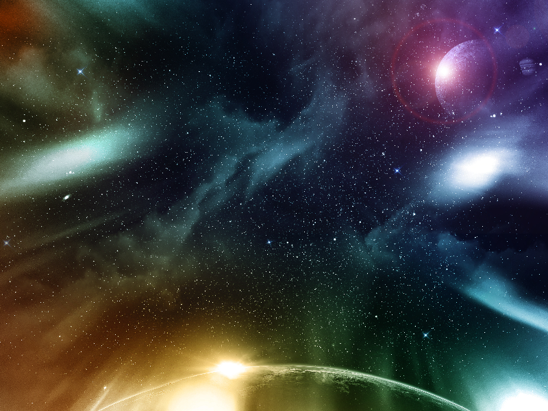 Galaxy Space Texture With Planets And Stars