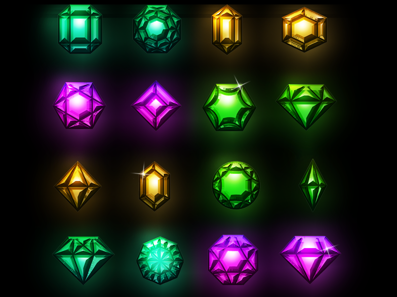 Gems Game Assets Free