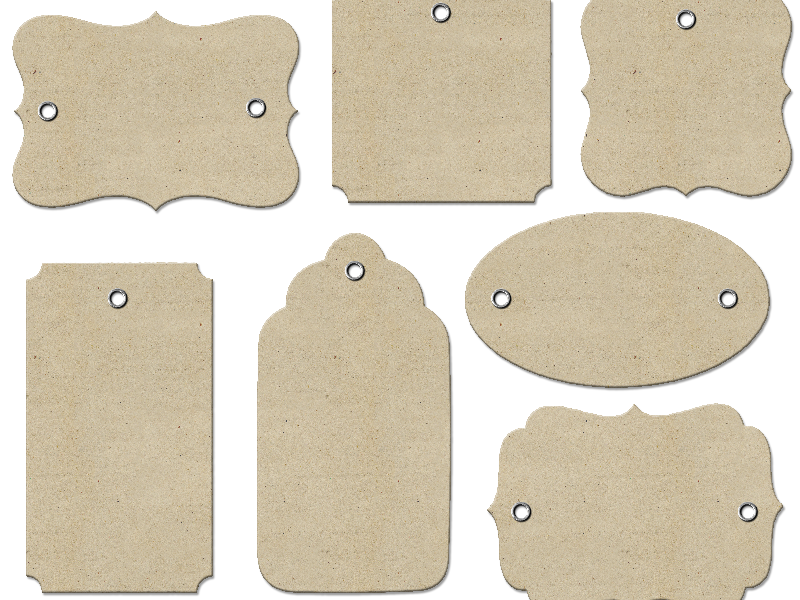 Gift Tags PNG Free