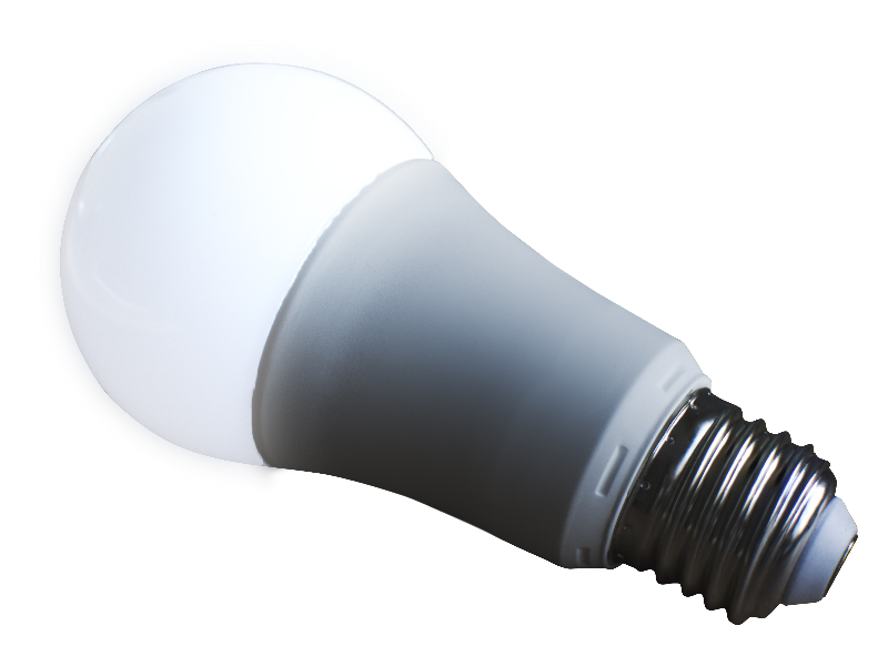 Glowing Light Bulb PNG