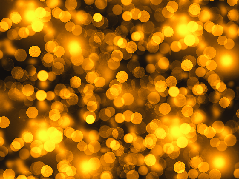Golden Lights Bokeh Texture Photo Overlay Free
