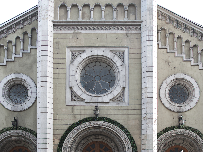 Gothic Architecture Facade With Stone Ornaments