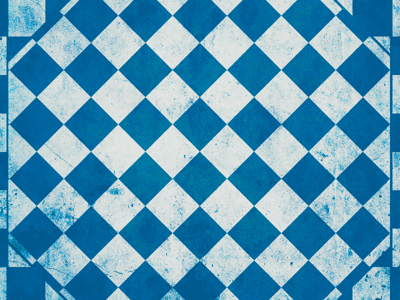 Grunge Checkered Background Blue