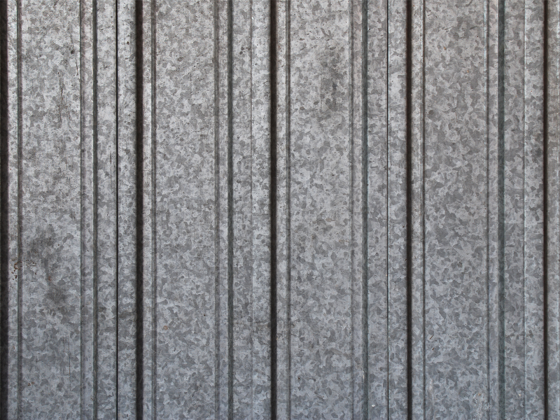 Grunge Corrugated Metal Sheet Texture