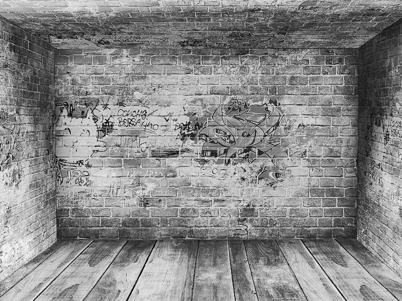 Grunge Gray Urban Art Room Background with Empty Interior