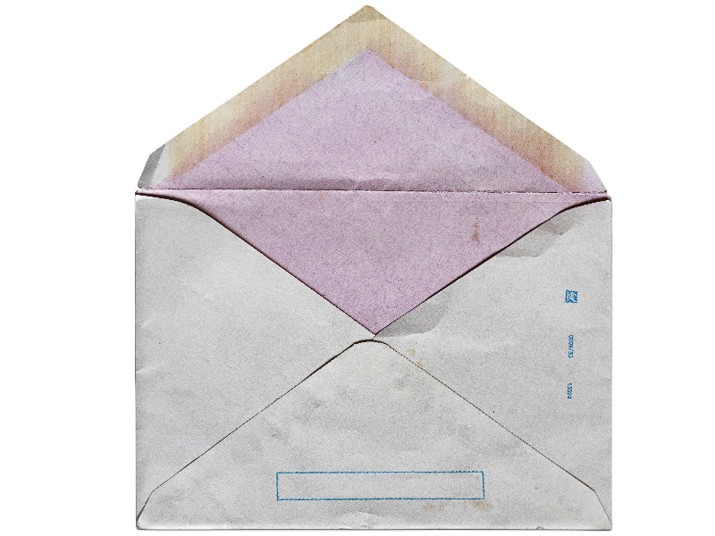 Grunge Open Envelope PNG