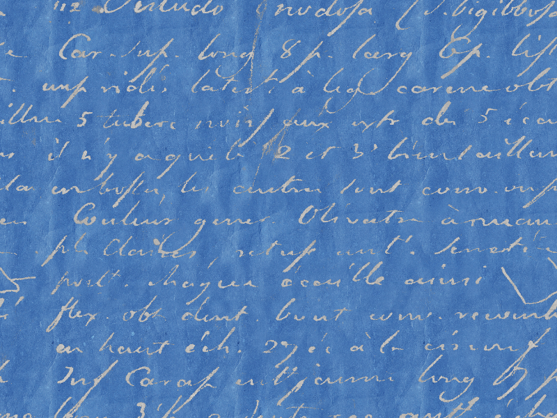 Handwriting Manuscript Texture On Old Grunge Seamless Blue Paper