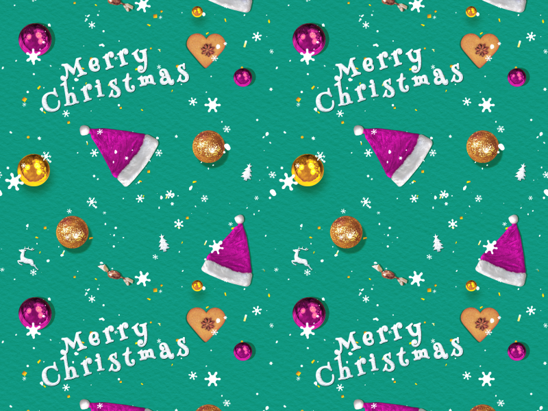 Happy Christmas Wallpaper Seamless
