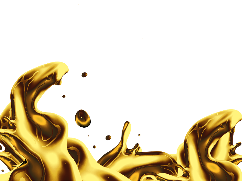 Isolated Liquid Gold Splash Png Free